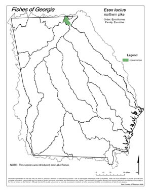 northern pike Region Map