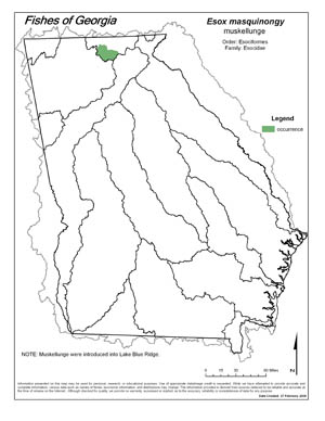 muskellunge Region Map