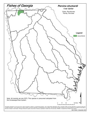 river darter Region Map