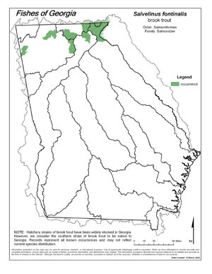 brook trout Region Map