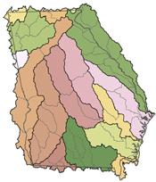 Huc8 Bazinele hidrografice din Georgia
