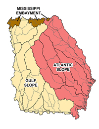 Huc8 Watersheds of Georgia